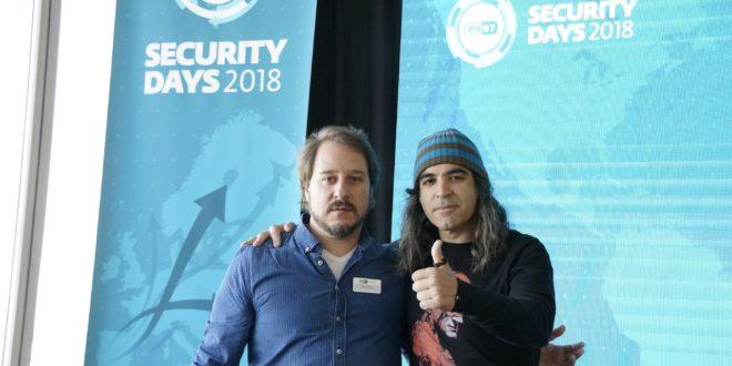 """Chema Alonso, Chief Data Officer de Telefónica: """"no existe una empresa 100% segura frente a la ciberdelincuencia"""" Foto Matías Zublena, COO de ESET España y Chema Alonso CDO de Telefónica"""