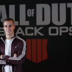 Lucas Vázquez  el futbolista del Real Madrid se diviertes en Madrid Games Week con Call of Duty: Black Ops 4