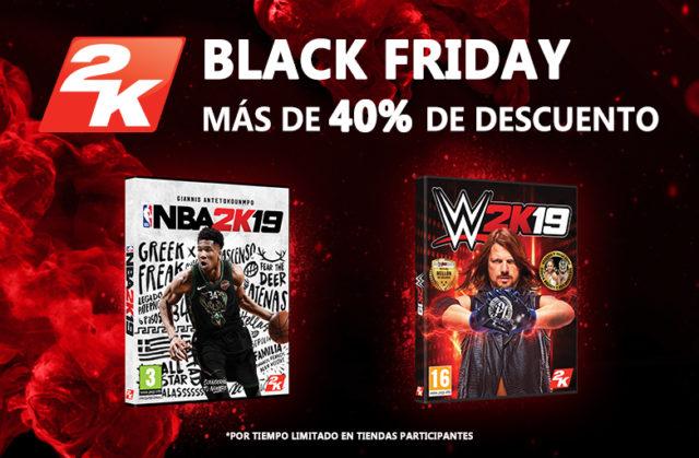 Ahorra más de un 40% en NBA 2K19 y WWE 2K19 en el Black Friday¡Regresan las rebajas de Black Friday y Cyber Monday!