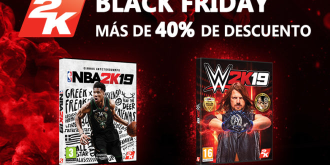 Ahorra más de un 40% en NBA 2K19 y WWE 2K19 en el Black Friday ¡Regresan las rebajas de Black Friday y Cyber Monday!