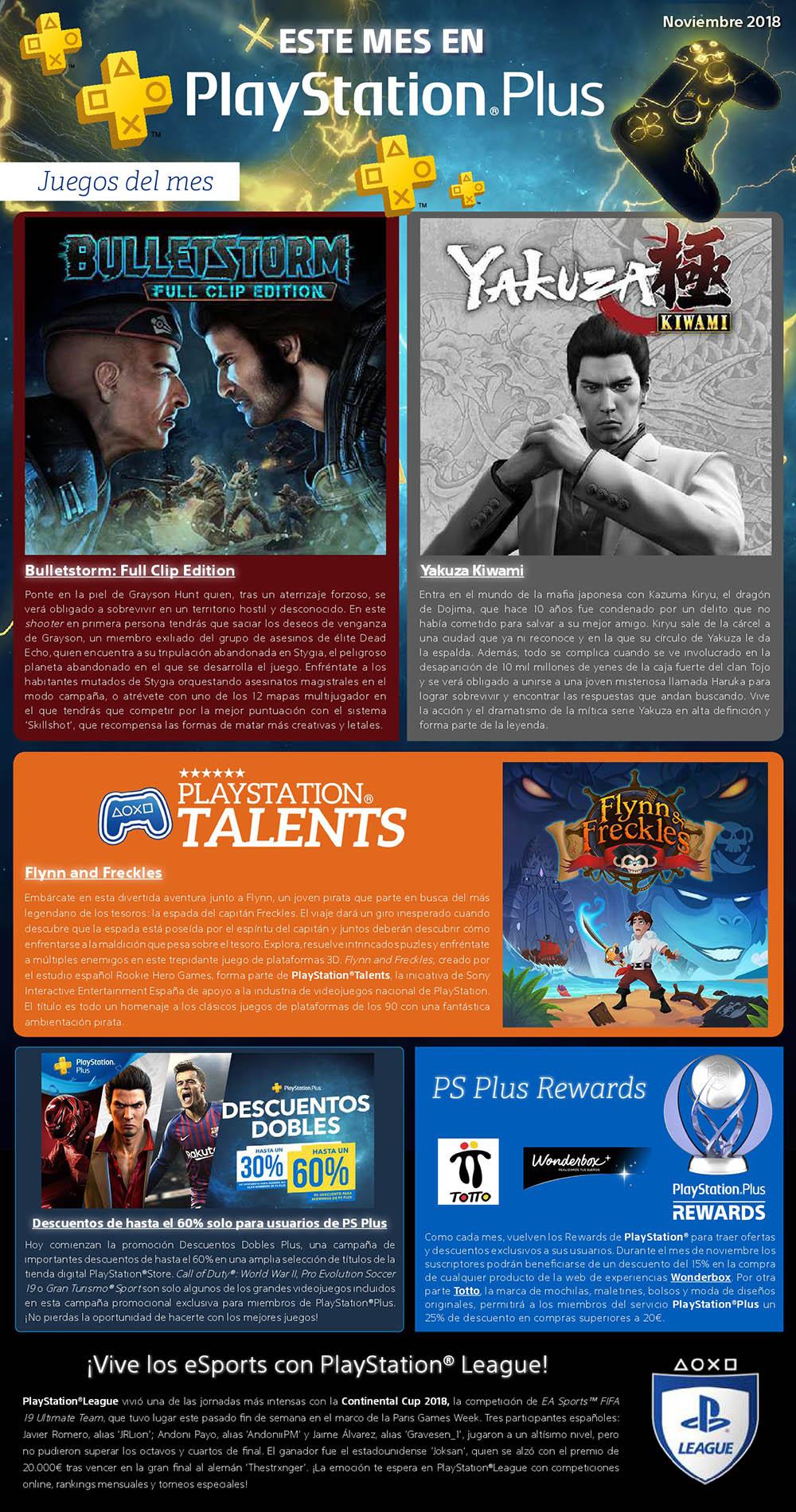Juegos Gratis Playstation Plus Noviembre 2018