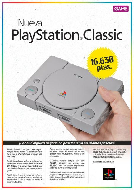 """Vuelve la peseta"" con PlayStation Classic"