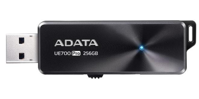 ADATA lanza la unidad flash USB UE700 Pro ofrece velocidades de lectura / escritura de hasta 360 / 180MB / sy hasta 256GB de capacidad de almacenamiento.
