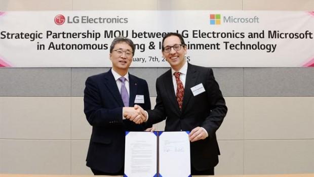 LG se une a Microsoft para impulsar la IA en los coches autónomos