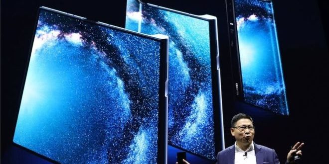 Huawei presentó su Mate X, su primer teléfono inteligente con pantalla plegable para luchar contra SamsungGalaxy Fold