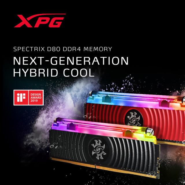 ADATA XPG SPECTRIX D80 gana el iF Design Award 2019