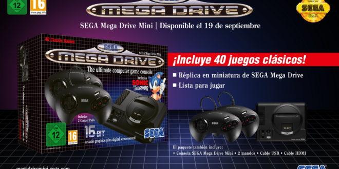 Anunciada SEGA Mega Drive Mini