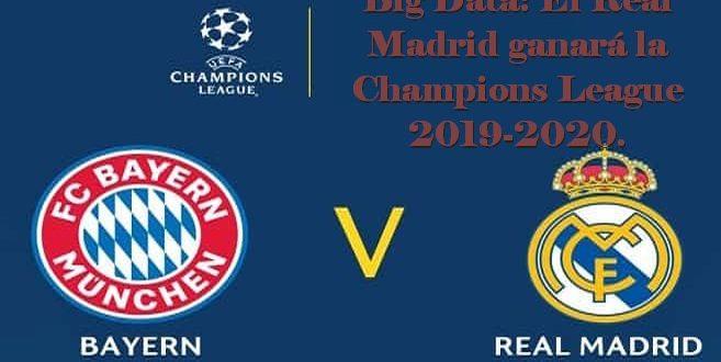 Big Data: El Real Madrid ganará la Champions League 2019-2020. Tottenham, campeón de Europa League