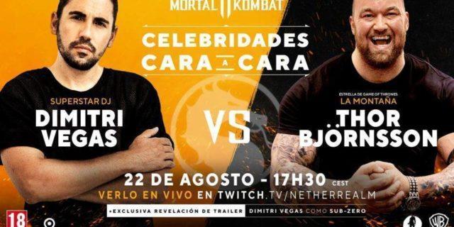 Mortal Kombat11: Combate entre DJDimitri Vegasy el actorHafþór Júlíus Björnsson masconocido como «La Montaña» en la Gamescom 2019