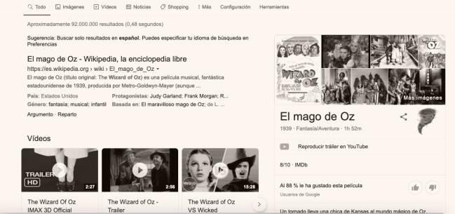 Google celebra con una animación el 80 aniversario del estreno de 'El mago de Oz'