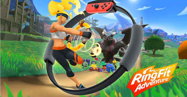 Haz ejercicio en Ring Fit Adventure para Nintendo Switch
