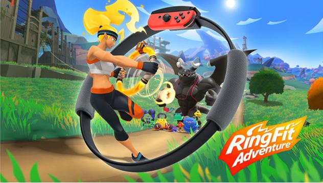 Haz ejercicio en Ring Fit Adventure para Nintendo Switch