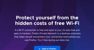 Firefox prueba su propia VPN. Firefox Private Network.