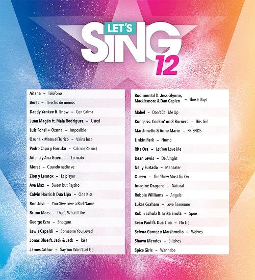 Anunciado el listado de canciones y un nuevo modo para Let's Sing 12