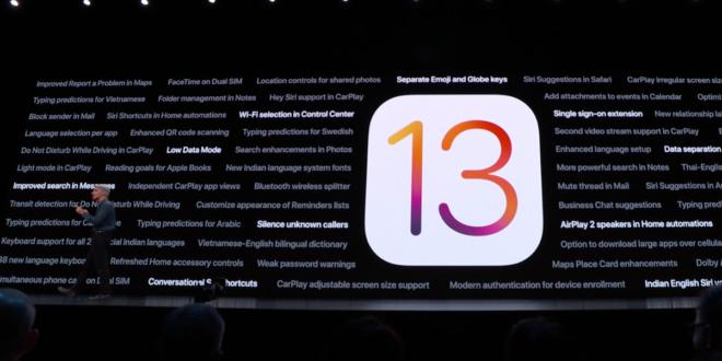 iOS 13 llega el 19 de septiembre