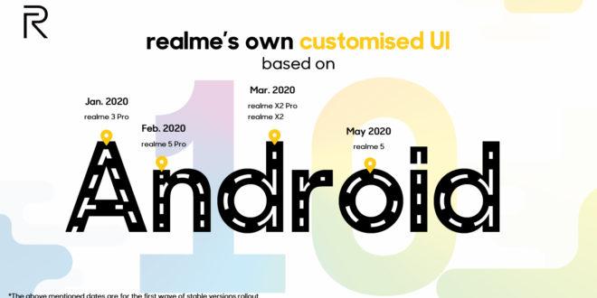 ColorOS 7 estará disponible para los smartphones de realme en 2020