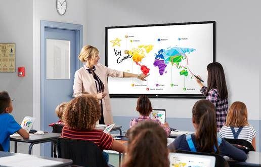 LG presenta su primera pantalla interactiva para entornos educativos