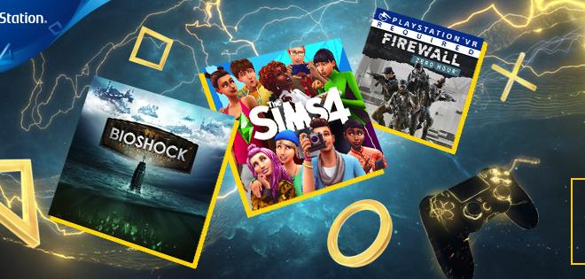 Juegos del mes de febrero 2020 para los suscriptores de PlayStation Plus. Bioshock: The Collection, Los Sims 4, Firewall Zero Hour y Aces otiversef The Mul