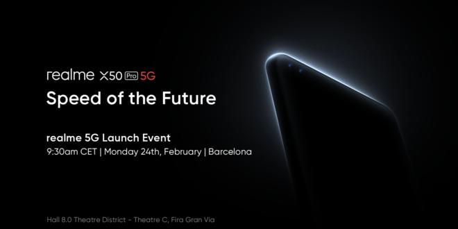 realme anuncia oficialmente su nuevo Flagship: realme X50 Pro 5G, que se presentará en elMWC 2020