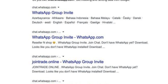 Error en Whatsapp Web: Google está indexando los enlaces de chat grupal de WhatsApp
