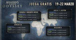 Assassin's Creed Odyssey gratis del 19 al 22 de marzo, en Xbox One, PlayStation4, y PC