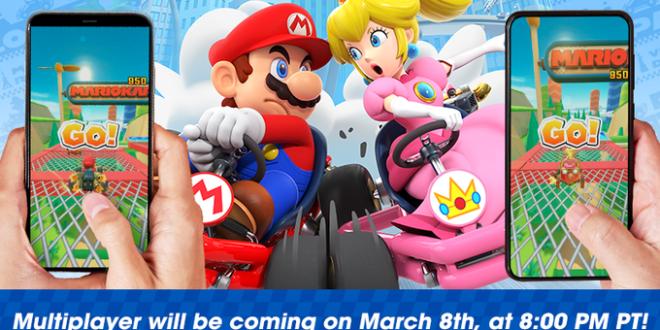 Mario Kart Tour tendrá modo multijugador a partir del 9 de marzo
