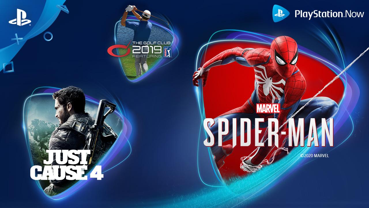Marvel's Spider-Man, Just Cause 4 y The Golf Club 2019 featuring PGA TOUR se incorporan al catálogo de PlayStation Now