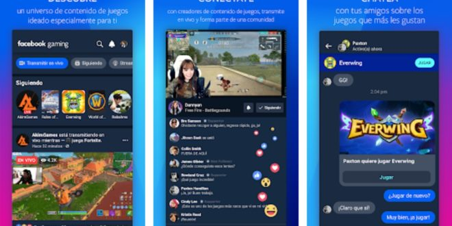 Facebook Gaming: la nueva app de streaming de videojuegos ya disponible en Android