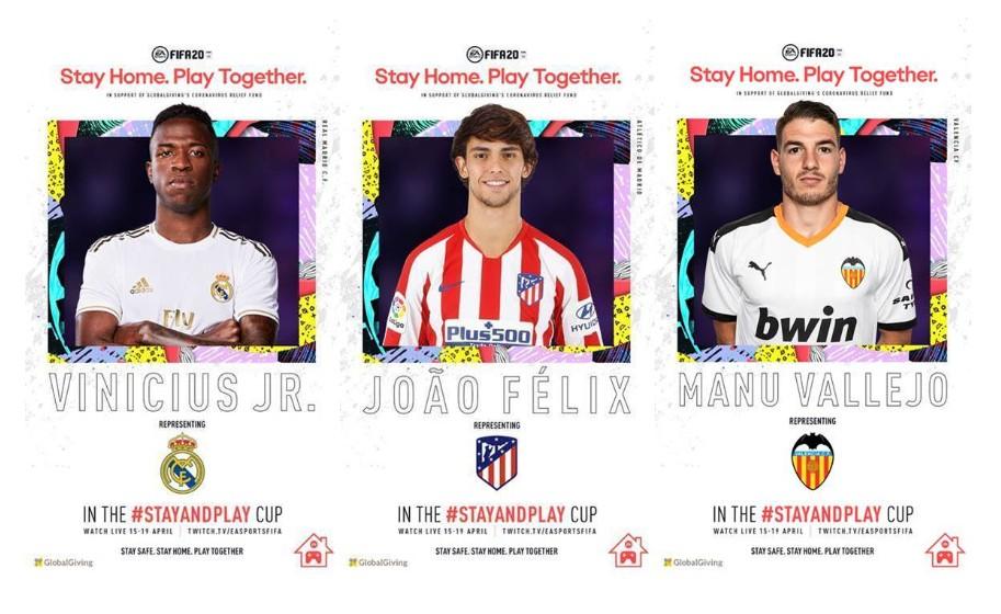 Vinicius Jr., João Félix y Manu Vallejo participarán en EA SPORTS FIFA 20 Stay and Play #STAYANDPLAY