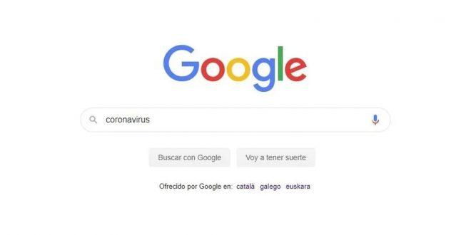 El coronavirus ha aumentado el uso de Google a niveles cuatro veces superiores de la Super Bowl
