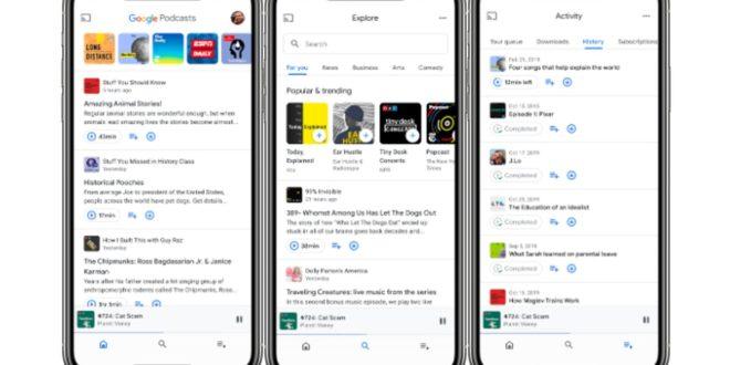 Se renueva la appPodcasts de Google en Android e iOS