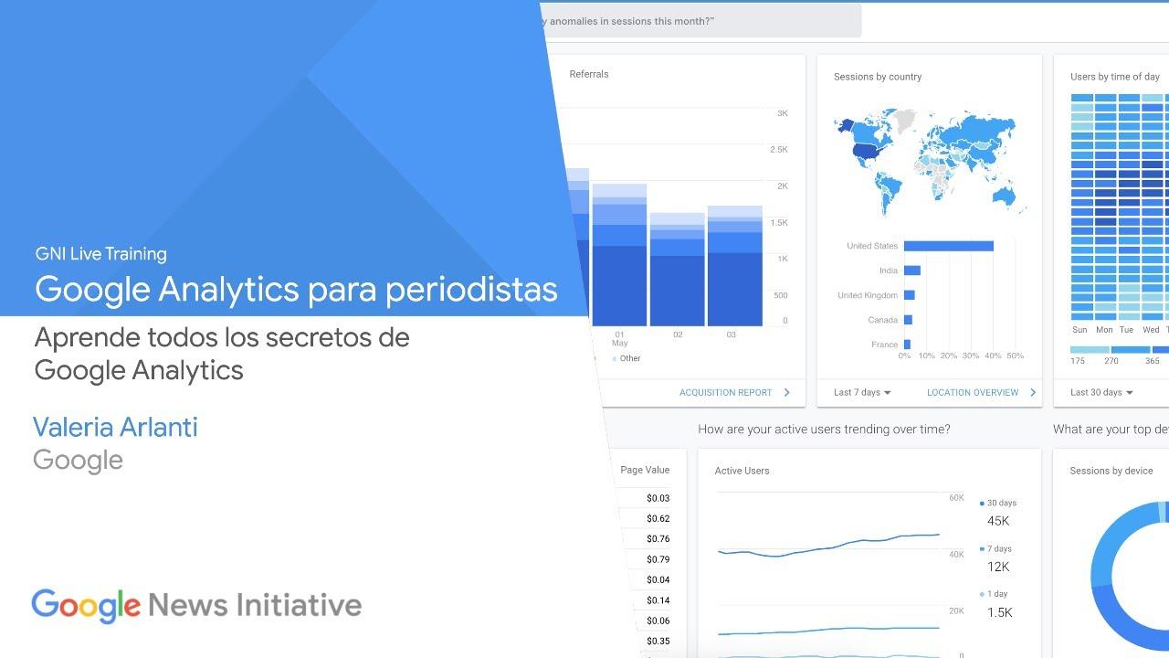 ¿Quieres conocer más sobre el uso de Google Analytics? Google Analytics para periodistas en directo