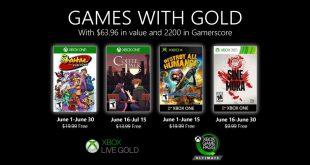Anunciados los Games with Gold de junio de 2020 para Xbox