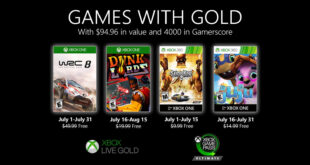 Anunciados los Games with Gold de julio de 2020