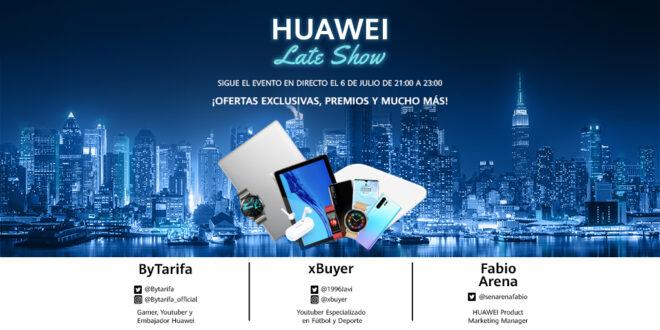 Huawei Late Show: el primer evento en streaming de ofertas y sorteos de Huawei que tendrá lugar en su Flagship de Madrid