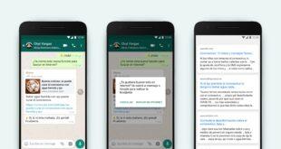 WhatsApp contra las fakenews. Añade búsquedas en Internet para comprobar la información de los mensajes reenviados