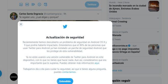 Twitter tenía una vulnerabilidad de su app en Android