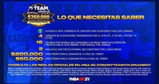 NBA 2K anuncia el Torneo NBA® 2K21 Mi EQUIPO Ilimitado con premio de $250.000