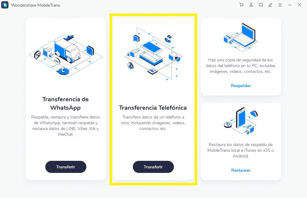 ¿Cómo usar MobileTrans para transferir contactos entre dos teléfonos Android?