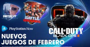 Call of Duty: Black Ops III, WWE 2K Battlegrounds y Detroit: Become Human entre las novedades de PlayStation Now en febrero