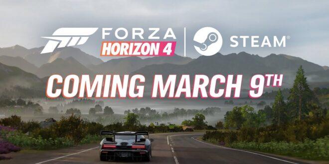Forza Horizon 4 en Steam el 9 de marzo