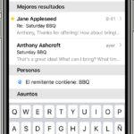 Buscar un correo electrónico en un iPhone
