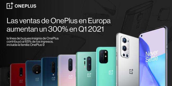 OnePlus inicia 2021 con un crecimiento de más del 300% en Europa, respaldado por el impresionante rendimiento de la línea de buques insignia