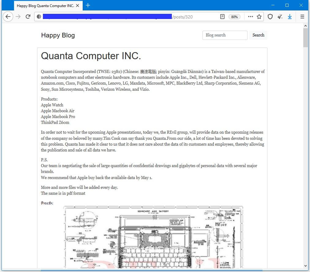 Hackers se habrían hecho con los planos de un MacBook de Apple