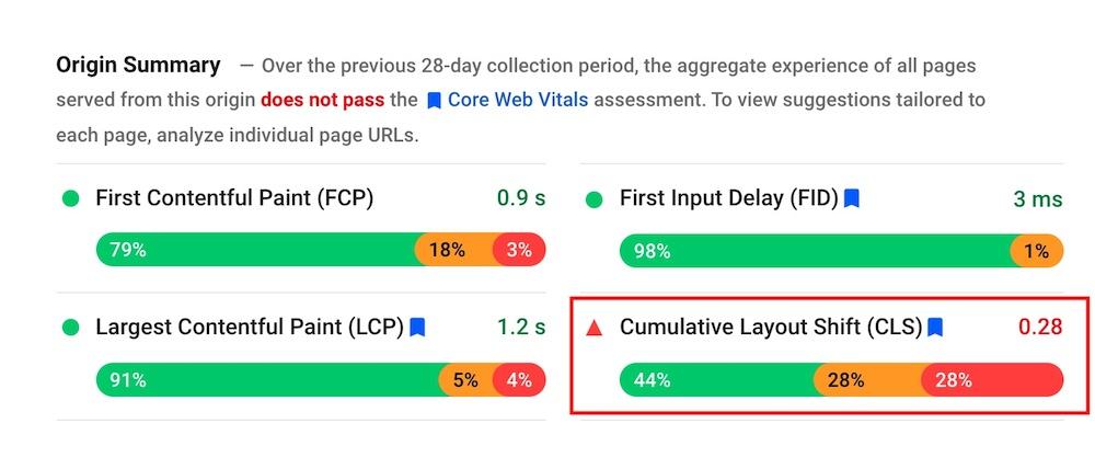 ¿Cómo se mide el cambio de diseño acumulativo (CLS)?