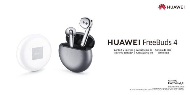 Huawei lanza HUAWEI FreeBuds 4, sus nuevos auriculares con ANC mejorada y adaptación abierta