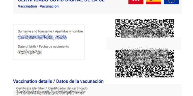 ¿Cómo generar tu pasaporte Covid o COVID Digital de la UE en la comunidad de Madrid? Certificado COVID Digital
