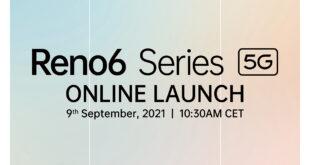 Fecha para el lanzamiento oficial de OPPO Reno6 Series 5G