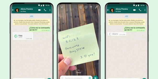 ¿Cómo enviar fotos y vídeo temporales en Whatsapp?