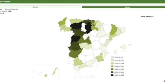 Internet: ¿Cuántas personas se apellidan con tu en España? El INE tiene la respuesta